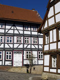 Half timbered houses. In old city of Marburg, Germany Stock Images