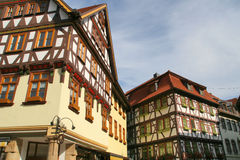 Half-timbered houses. Half-timbered house in Germany Thuringia royalty free stock photo