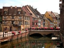 Half Timbered Houses. Colorful half timbered houses in Colmar, France royalty free stock photo