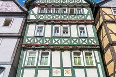 Half-timbered houses in Bad Wildungen. Royalty Free Stock Images