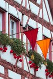 Half-timbered houses in Bavaria, Germany Royalty Free Stock Image