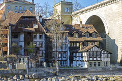 Half-timbered houses in Bern Royalty Free Stock Photos