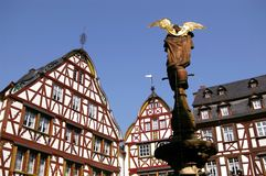Half-timbered houses in Bernkastel-Kues Royalty Free Stock Photography