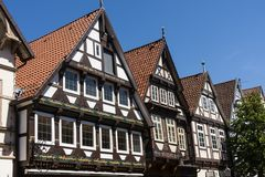 Half-timbered Houses in Celle, Germany Royalty Free Stock Images
