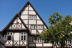 Half-timbered Houses in Celle, Germany Stock Images
