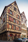 Half-timbered houses in the centre of Colmar Stock Photography
