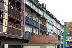 Half-timbered houses at Chandler bridge in Erfurt Stock Images