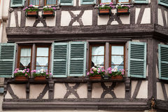Half timbered houses of Colmar Royalty Free Stock Image