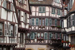 Half timbered houses of Colmar Stock Image