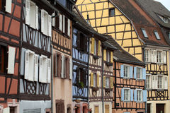 Half timbered houses of Colmar Stock Photos