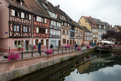 Half timbered houses of Colmar Stock Images