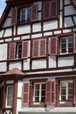Half timbered houses of Colmar, Royalty Free Stock Photos