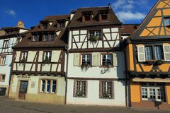 Half-timbered houses in Colmar Royalty Free Stock Photography