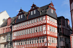 Half-timbered houses in Frankfurt Stock Image