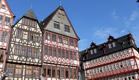 Half-timbered houses in Frankfurt Royalty Free Stock Photography