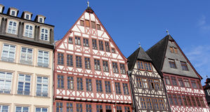 Half-timbered houses in Frankfurt Royalty Free Stock Image
