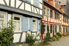 Half-timbered houses in Frankfurt am Main Royalty Free Stock Image