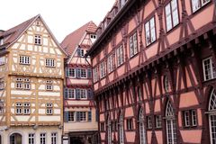 Half-timbered houses in germany Royalty Free Stock Photography