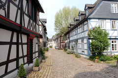 Half-timbered houses in Germany Stock Photo