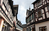 Half-timbered houses in Germany Royalty Free Stock Photos