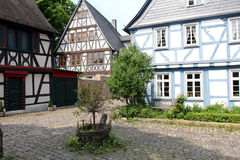 Half-timbered houses in Germany Royalty Free Stock Images
