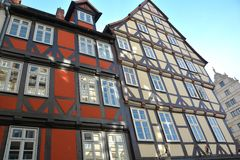Half-timbered houses in Hanover Stock Image