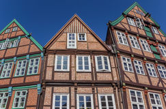 Half timbered houses in the historical city center of Stade Royalty Free Stock Photos