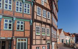 Half timbered houses at the historical harbor of Stade Royalty Free Stock Images