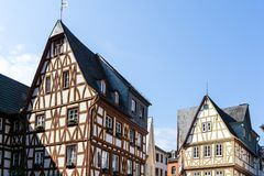Half-timbered houses at the Kirschgarten in Mainz Rhineland-Palatinate, Germany. Half-timbered houses at the Kirschgarten Mainz Rhineland-Palatinate, Germany royalty free stock photo