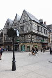 Half-timbered houses at Liberty Street Corner, Dijon, France Stock Image
