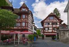 Half-timbered houses, Lucerne Royalty Free Stock Images