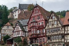 Half timbered houses in Miltenberg Stock Image