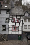 Half-timbered houses in Monschau, Germany Royalty Free Stock Photo