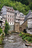 Half-timbered houses in Monschau Royalty Free Stock Images