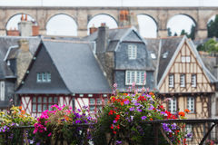 Half-timbered houses in Morlaix Royalty Free Stock Photo