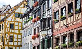 Half-timbered houses of the Old Town, Nuremberg Royalty Free Stock Photos