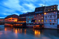 Half-timbered Houses at Petite France in Strasbourg, France. Petite-France is an area in Strasbourg, Alsace, France. It is located on the Grande Ile, where the Royalty Free Stock Images