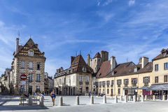 Half timbered  houses at Place Cordeliers in Dijon, Burgundy, Fr Stock Images
