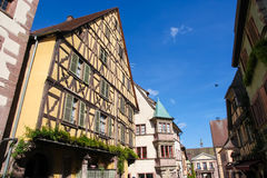 Half-timbered houses in Riquewihr, Alsace region, France Royalty Free Stock Photo