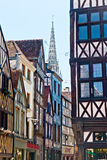 Half-Timbered Houses in Rouen Stock Photo
