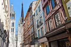 Half-Timbered Houses in Rouen Stock Image