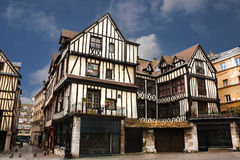 Half-timbered houses of Rouen Stock Image