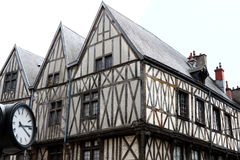 Half-timbered houses in Rue de la Liberté, Dijon, France Royalty Free Stock Photography