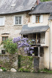 Half timbered houses in Segur-le-Chateau Royalty Free Stock Photos