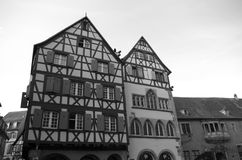Half-timbered Houses. Royalty Free Stock Photos