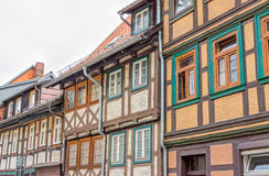 Half-timbered houses in Wernigerode, Germany Royalty Free Stock Image