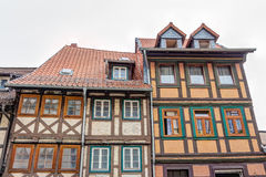 Half-timbered houses in Wernigerode, Germany Stock Image