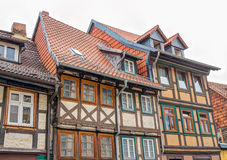 Half-timbered houses in Wernigerode, Germany Royalty Free Stock Photo