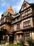 Half Timbered Mansion. A beautiful half timbered mansion in Sinaia, Romania royalty free stock images