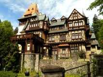 Half Timbered Mansion. A beautiful half timbered mansion in Sinaia, Romania stock image